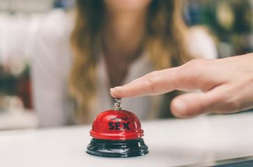 Sex bell on a reception desk