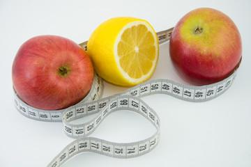 Фруктовая диета, яблоко лимон.