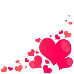 ハート、heart、大小、ランダム、背景画像、愛、Valentine、バレンタイン、