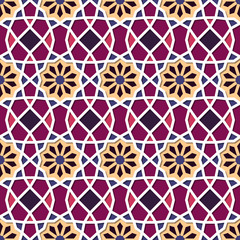 Traditional Ornamental Seamless Islamic Pattern