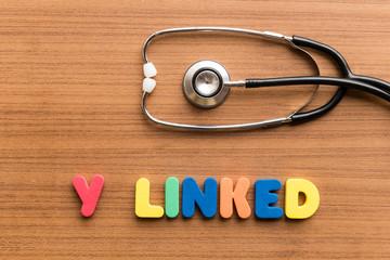 y linked colorful word