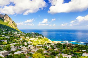 amazing view on Capri island, Campania, Italy