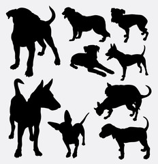 Dog pet animal silhouette 13. Good use for symbol, logo, web icon, mascot, sign, sticker design, or any design you wany. Easy to use.