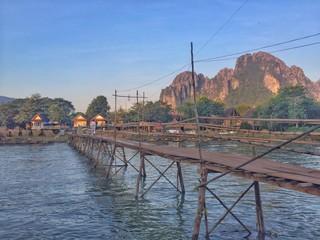 The bridge in vangvieng