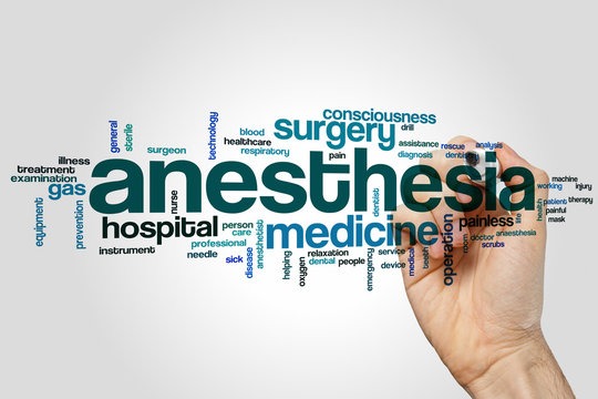 Anesthesia word cloud