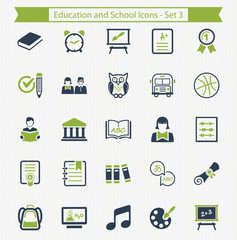 Education and School Icons - Set 3