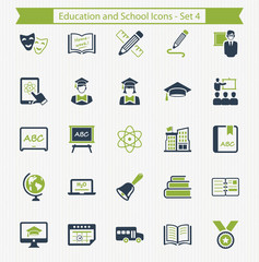 Education and School Icons - Set 4