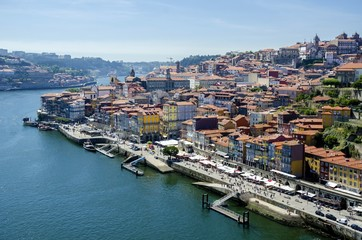 Porto view, Portugal (view of Ribeira and Douro river)