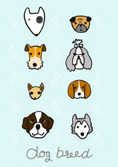 cute hand drawn dog breed