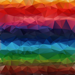 Multicolor geometric gradient polygon