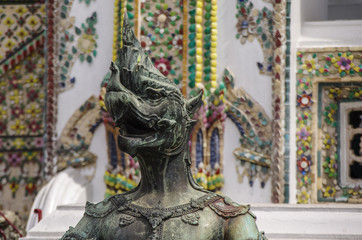 Bronze sculpture of Garuda in Wat Phra Kaeo, Temple of the Emerald Buddha and the home of the Thai King. Bangkok, Thailand