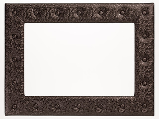 A blank picture frame on white background