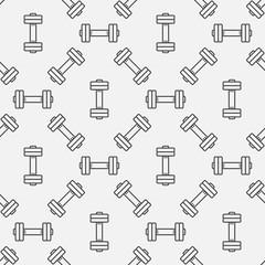 Dumbbell seamless pattern