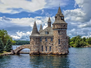 Printed roller blinds Castle Power House of the Boldt Castle on Ontario Lake, Canada