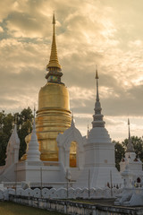 Golden chedi at Wat Suandok, Chiang Mai, Thailand