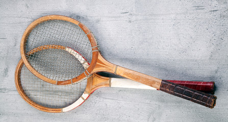 Two vintage rackets