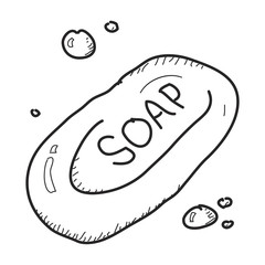 Simple doodle of a bar of soap