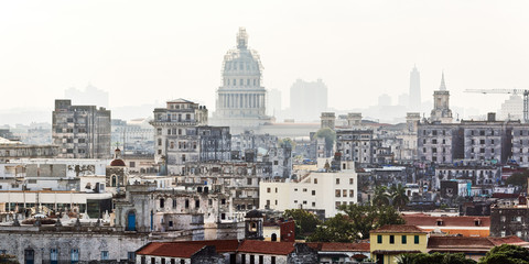 Cuba, Havana, View from El Morro