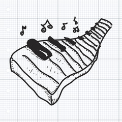 Simple doodle of a piano keyboard