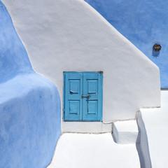 Architecture on the island of Santorini - fototapety na wymiar