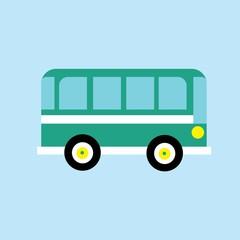 Bus flat icon, vector illustration