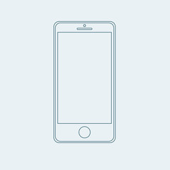 smartphone outline icon in iphone style eps