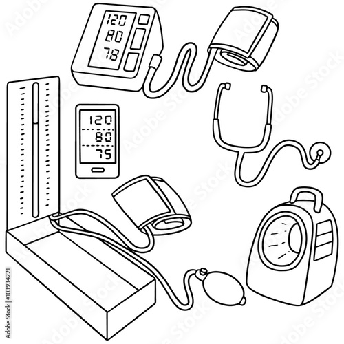 Vector Set Of Blood Pressure Monitor Stock Image And Royalty Free