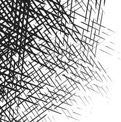 black grunge line sketches shading isolated on white background