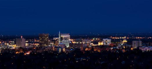 City of Boise skyline at night