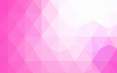 Pink polygonal design pattern, which consist of triangles and gradient in origami style.