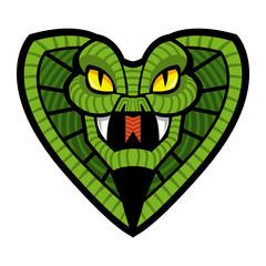 Cobra snake vector icon