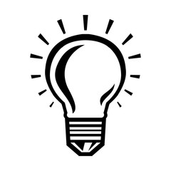 Lightbulb Idea Vector Icon