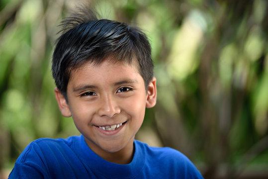 happy latino boy