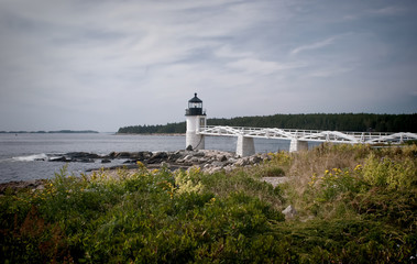 "Marshall Point Lighthouse in Port Clyde, Maine.  This is the lighthouse that was used in the movie ""Forrest Gump""."