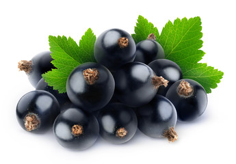 Isolated pile of black currants