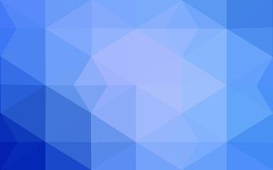 Blue polygonal design pattern, which consist of triangles and gradient in origami style.