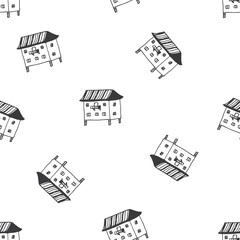 English cottages pattern in vector.