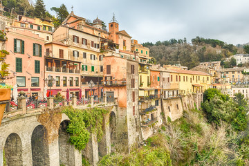 Fotomurales - The town of Nemi on the Alban Hills, Italy