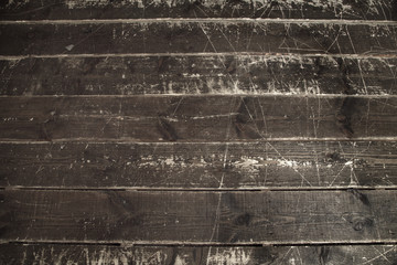 Old wooden plank wall floor background or texture