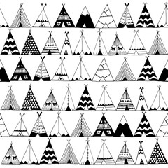 Teepee native american summer tent illustration.