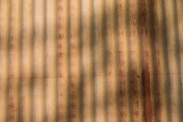 Wall Mural - Closeup of the weathered and rust zinc sheet