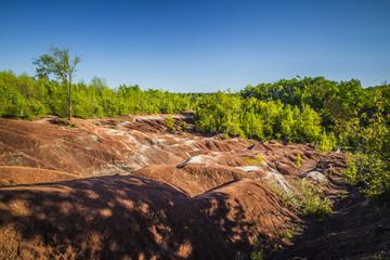 The Cheltenham Badlands in Caledon ontario, Canada