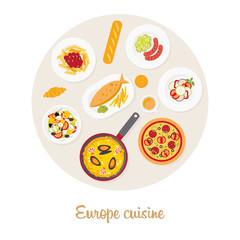 European food set