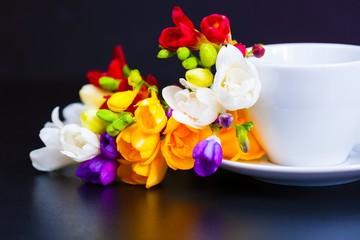 tea with freesia