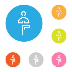 icon yoga flat