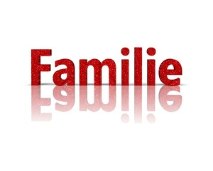 Familie 3d wort