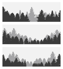 Image of Nature. Tree Silhouette. Vector Illustration