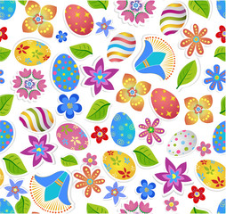 Seamless pattern with easter