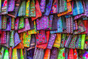silk handcraft bag