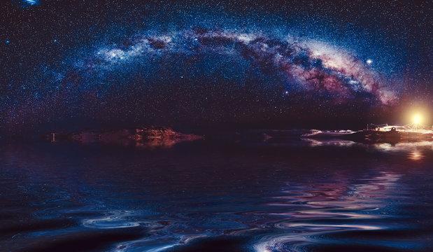 milky-way in night sky